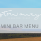 Stowaway Kangaroo Island mini bar menu
